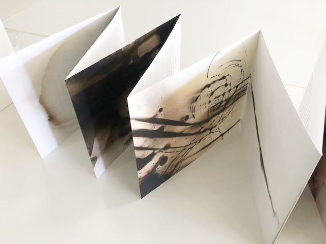 8 x 100 inch accordion book (wall mountable) with images on front and Martha Rosler essay on verso
