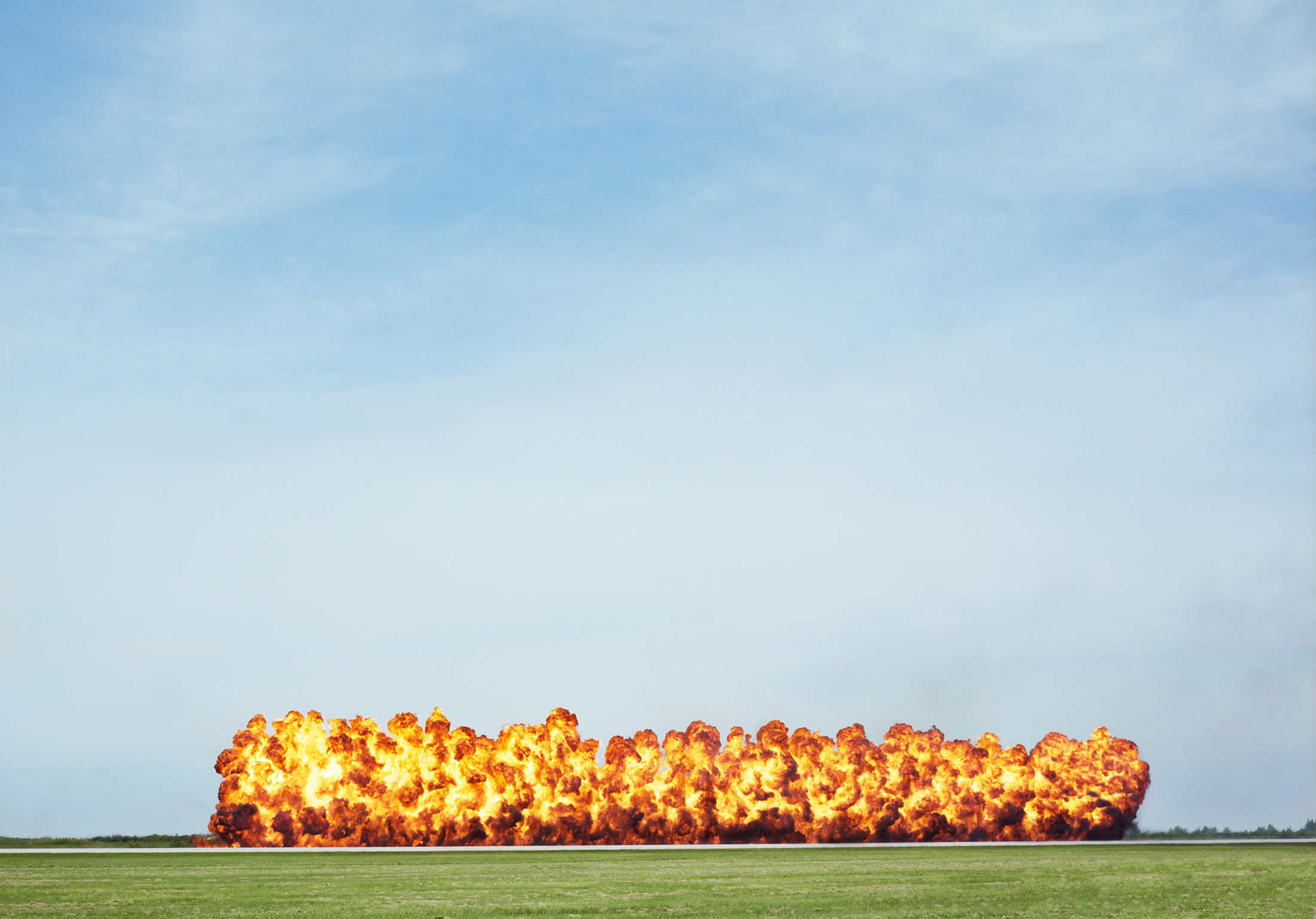 Wall of Fire, Labor Day, 2006 (Cleveland, OH) 28×40″ archival pigment print 2006
