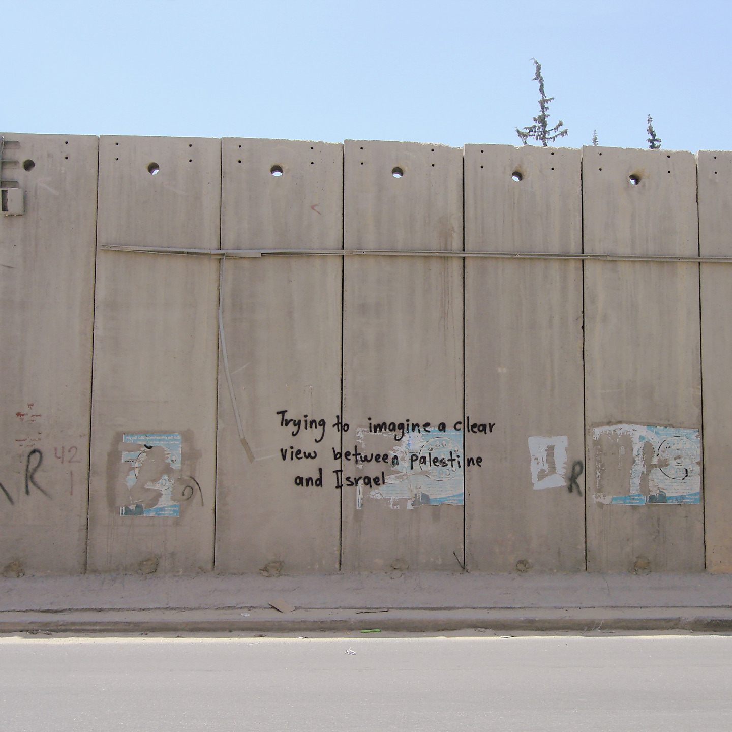 Untitled (Palestinian wall, east Jerusalem) 16×16″ archival pigment print 2008